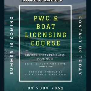Projet Hire and Sales - PWC and Boat Licensing Course Melbourne